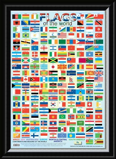 Framed Framed Fun with Flags - Flags of the World