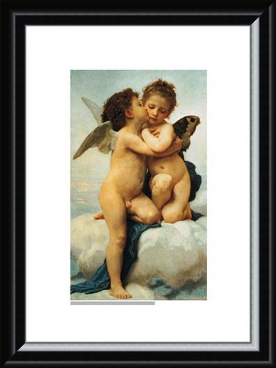 Framed Framed The First Kiss, 1873 - William Adolphe Bouguereau