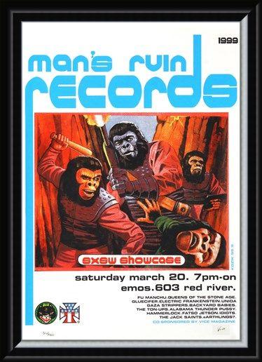 Framed Framed Man's Ruin Records SXSW Promo - Frank Kozik
