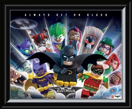 Framed Framed Always Bet On Black - Lego Batman