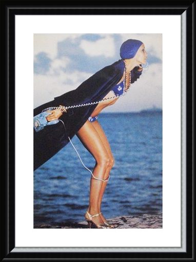 Framed Framed Jerry Hall, Jamaica May 1975 - Norman Parkinson