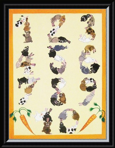 Framed Framed Counting Bunnies - Educational Fun