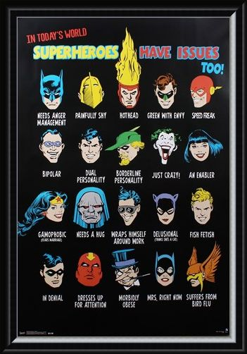 Framed Framed Superheroes Have Issues Too - DC Comics