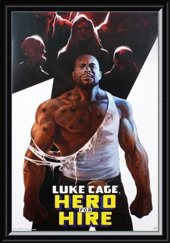 Framed Framed Hero For Hire - Luke Cage