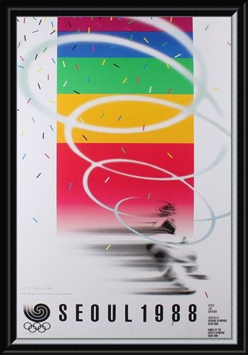 Framed Framed Commemorative Art Print By Cho Jong-Hyun - 1988 Seoul Olympic Games