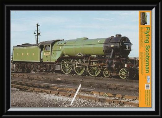 Framed Framed The Flying Scotsman - Steam Locomotive