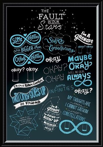 Framed Framed The Fault In Our Stars Typographic - The Fault In Our Stars
