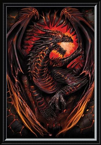 Framed Framed Dragon Furnace - Spiral