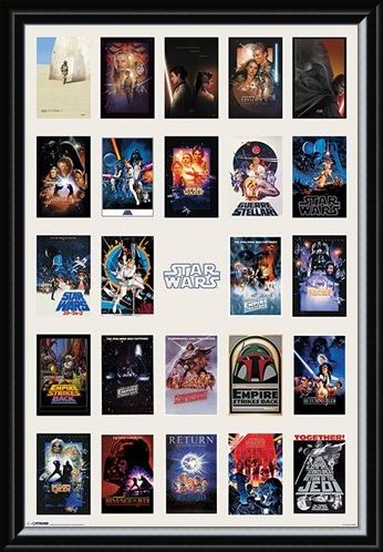 Framed Framed Star Wars Collage - May the Force be with you