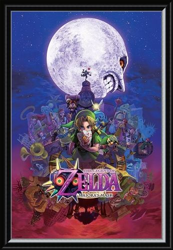 Framed Framed Majora's Mask - The Legend of Zelda