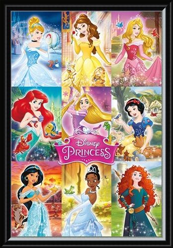 Framed Framed Princess Collage - Disney Princess