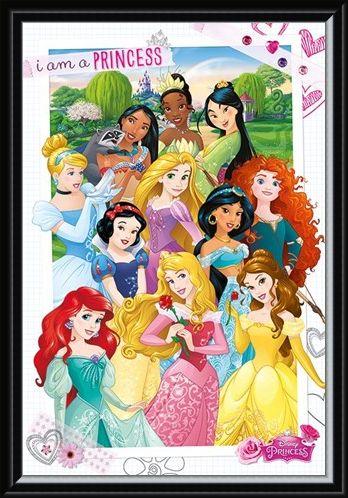 Framed Framed I Am A Princess - Disney Princess