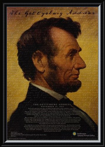 Framed Framed The Gettysburg Address - Abraham Lincoln