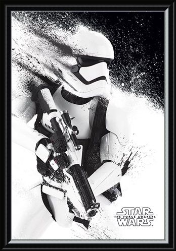 Framed Framed Stormtrooper Paint - Star Wars Episode VII The Force Awakens