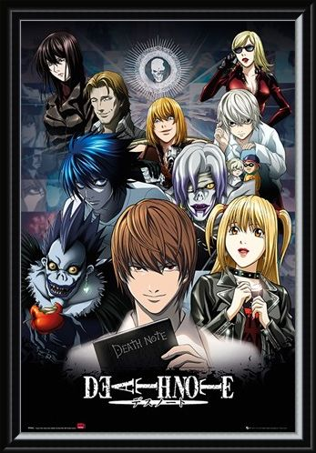 Framed Framed The Shinigami, The Boy, And The Book - Death Note