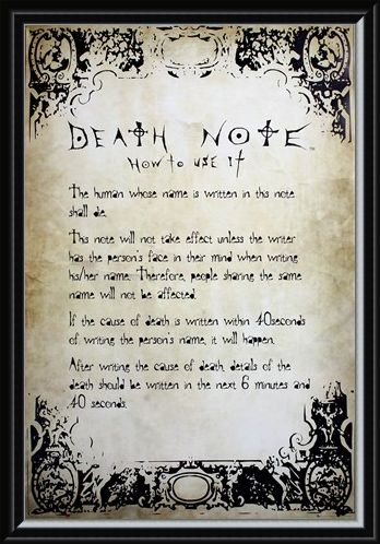 Framed Framed Play By The Rules - Death Note