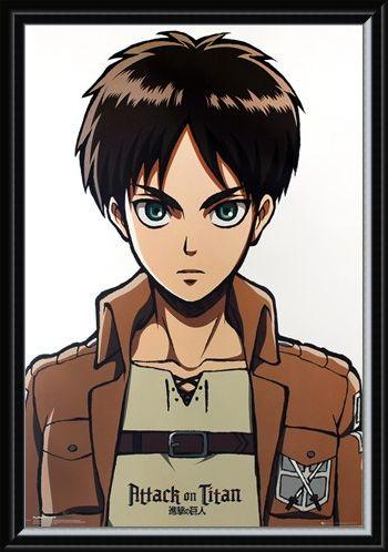 Framed Framed Eren Portrait - Attack on Titan