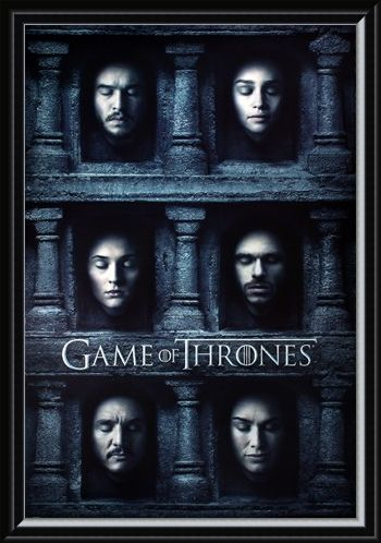 Framed Framed Hall Of Faces - Game Of Thrones