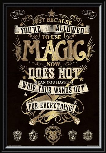 Framed Framed Magic - Harry Potter