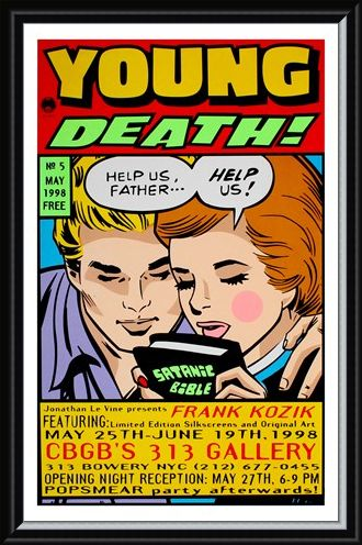 Framed Framed Young Death! - Frank Kozik