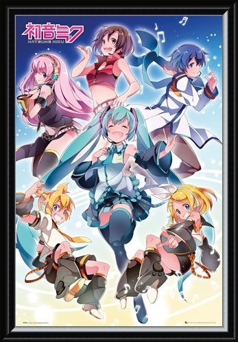 Framed Framed Vocaloid Performance - Hatsune Miku Group