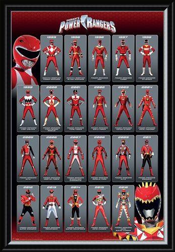Framed Framed Red Ranger Evolution - Power Rangers