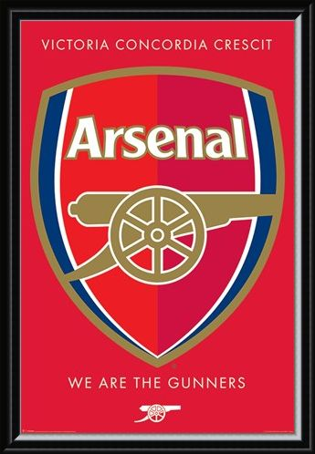 Framed Framed We Are The Gunners Crest - Arsenal FC