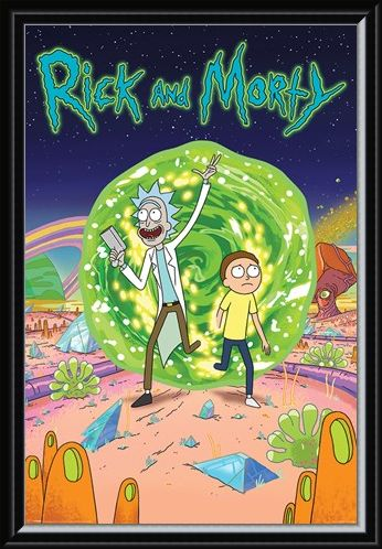 Framed Framed Portal - Rick And Morty