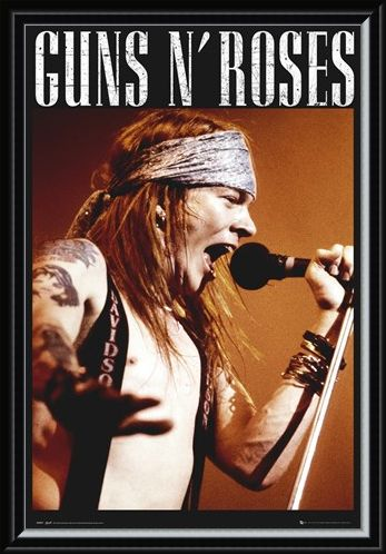 Framed Framed Guns N Roses - Axel Rose