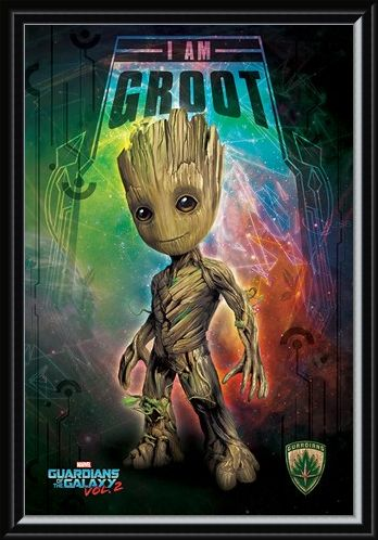 Framed Framed I Am Groot - Guardians of the Galaxy Vol. 2
