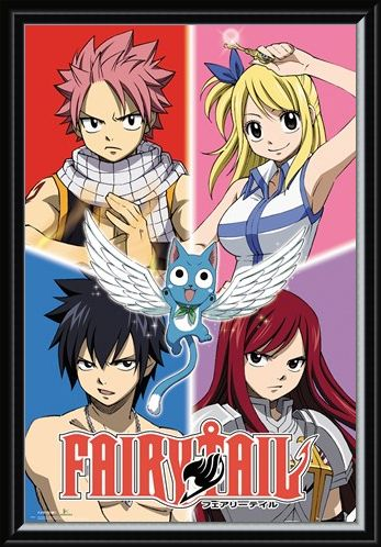 Framed Framed Quad Goals - Fairy Tail