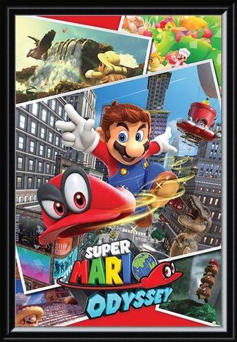 Framed Framed Odyssey Collage - Super Mario