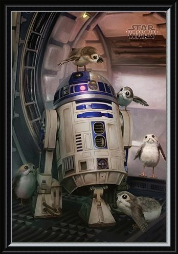 Framed Framed R2-D2 & Porgs - Star Wars The Last Jedi