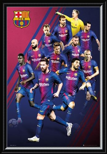 Framed Framed Players 17-18 - Barcelona