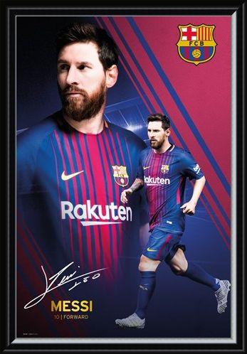 Framed Framed Messi Collage 17-18 - Barcelona