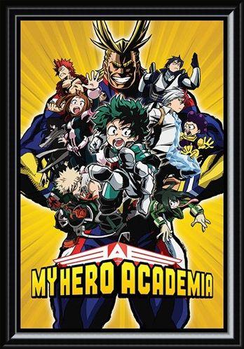 Framed Framed Radial Character Burst - My Hero Academia