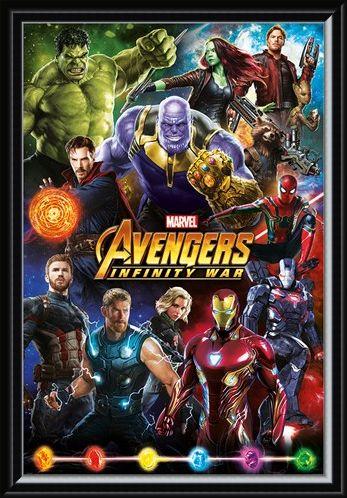 Framed Framed Infinity War Character Montage - Avengers
