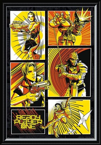 Framed Framed Comic Panels - Ready Player One