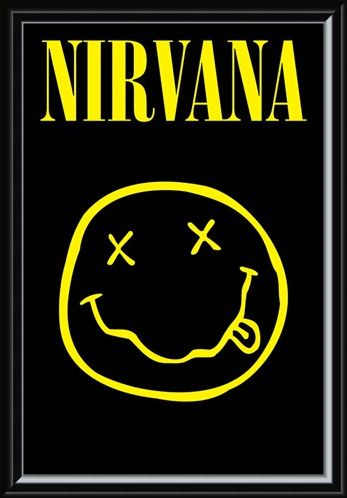 Framed Framed Smiley - Nirvana