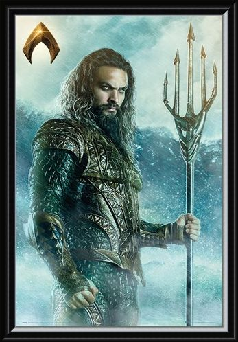 Framed Framed Aquaman Trident - Justice League
