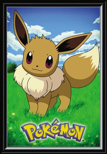 Framed Framed Eevee - Pokemon