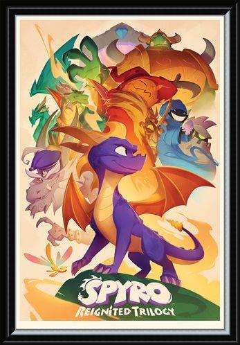 Framed Framed Reignited Trilogy - Spyro The Dragon
