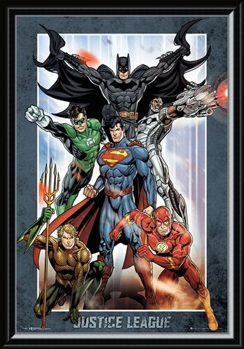 Framed Framed Justice League Group - DC Comics