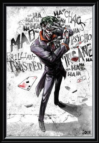 Framed Framed Joker Type - DC Comics