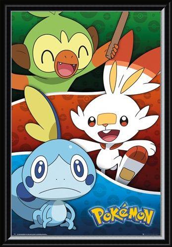 Framed Framed Galar Starters - Pokemon