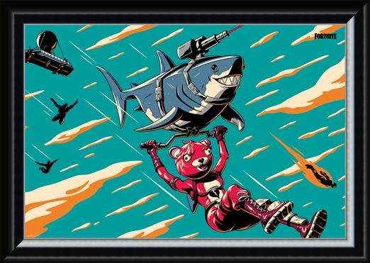 Framed Framed Laser Shark - Fortnite
