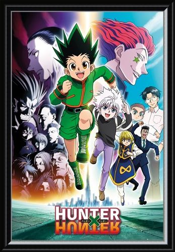 Framed Framed Keyart Running - Hunter x Hunter