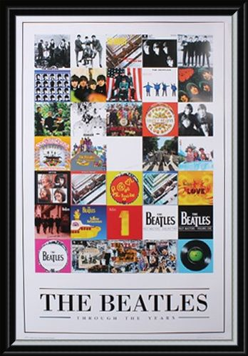 Framed Framed Album Cover Montage - The Beatles