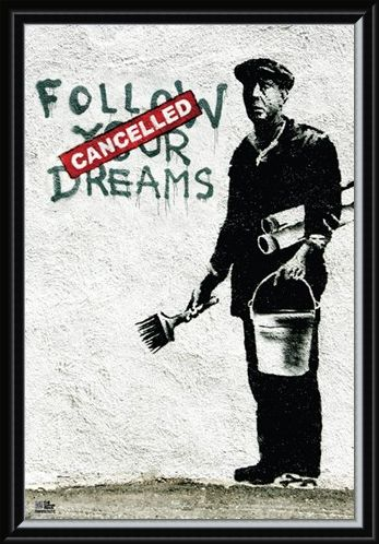 Framed Framed Follow Your Dreams - Banksy