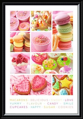 Framed Framed Sweet Collage - Cakes Galore